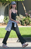 Calista Flockhart with her trainer in Santa Monica 26/11/07