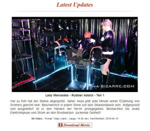 Domina Bizarre: Lady Mercedes - Rubber Addict - Teil 1