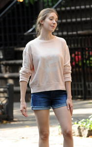 Alison Brie on the set of Seeing Other People in NY 07-03-2014 (not HQ)