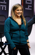 Shawn Johnson at the NikeFuel Forum in New York 10/15/13
