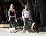 Mellisa Joan Hart & Pregnant Kellie Martin Walk Their Dogs in Early Morning, 10/29/06 - 10 HQ