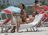 Helena Christensen - Bikini Candids in Miami Beach 7.6.08